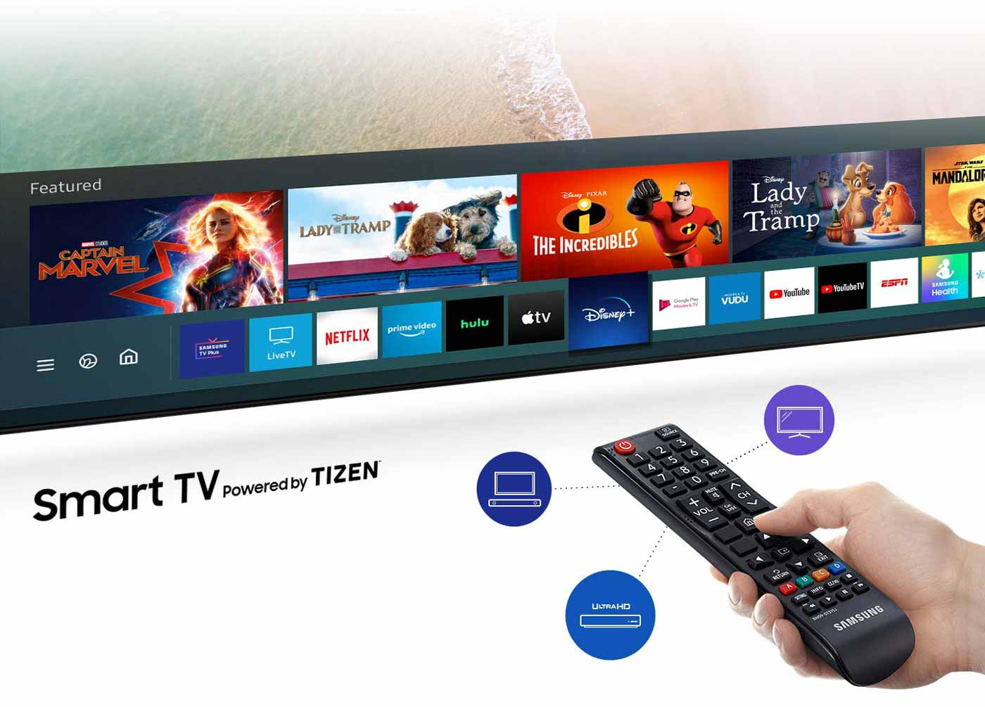 OneRemote in samsung tv